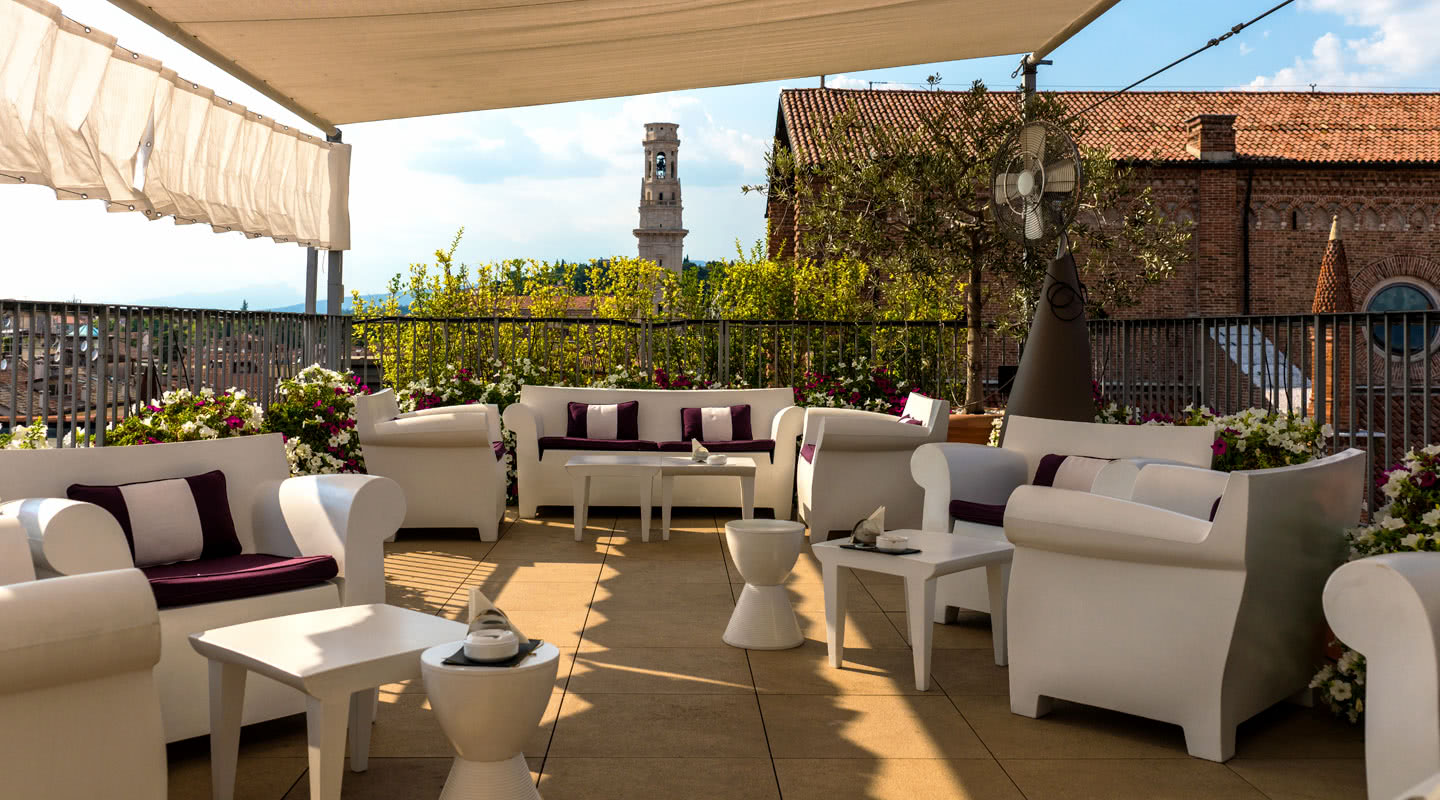 Panoramic Terrace Due Torri Hotel Luxury 5 Stars Hotel