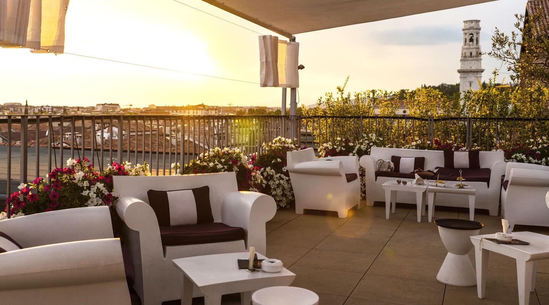 Panoramic Terrace Due Torri Hotel Luxury 5 Stars Hotel
